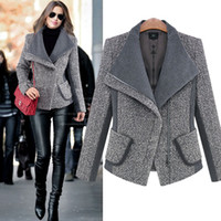 winter clothes women - 2015 new European leg winter Women s clothes loose large lapel thick woolen Women s coat Fashion jacket