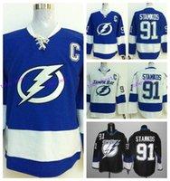 Men bay c - 2016 Men s Tampa Bay Lightning Hockey Jerseys Steven Stamkos Jersey Blue White Black Steven Stamkos Stitched Jerseys C Patch