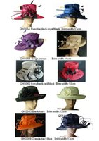 Mixed Color church hats - Sinamay hat church hat sell in mix style for races party and wedding BY EMS