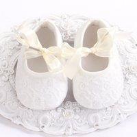 ballerina slipper shoes - Christening Cream Lace girls Baby Baptism shoes toddler soft soled girl shoes Kids shoes for girl Crib Ballerina Slipper X0280