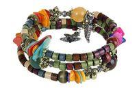 ancient beads - 2015 Fashion women jewelry National wood bead bracelet restoring ancient ways Starfish bracelet with shells Multi loop bangle DHL free pc