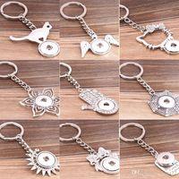 Wholesale NOOSA Interchangeable Ginger Snap Key Chain Key Rings Trend Jewelry Noosa key chain keychain favors fashion keychain styles