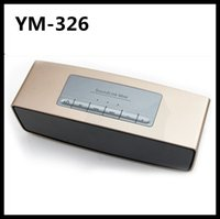 Wholesale YM Handsfree Wireless Bluetooth Speakers Speakerphone Bass Stereo Subwoofers Dual Trumpets with Microphone for iPhone Plus iPad Air M8