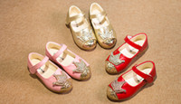 Wholesale 2016 Spring New Princess Girls Leather Shoes Children Clothing Crown Rhinestone Beads Shoe Kids Clothes Diamond Shoes D6599