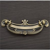 Wholesale high quality Red bronze antique copper Zinc alloy door handle pull for cabinet kitchen drawer pitch row mm