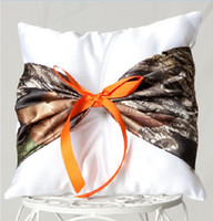 accent pillows blue - Pillow Ringbearer with Camo Accent Wedding Ring Pillow Bridal Ring Pillows Wedding Ceremony
