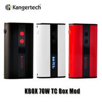 Cheap 100% Original Kangertech KBOX 70W TC Box Mod 4000mAh 0.1ohm Temperature Control Battery for Kanger Subtank Mini Atomizer