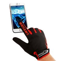 Wholesale 2015 Winter Bicycles Cycling Mountain Biking Sports Fleece Full Finger Gloves Touch Screen Warm Non skid Glove