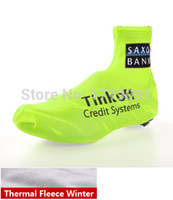 bank thermals - Hot new Saxo bank tinkoff Winter Thermal Cycling Jerseys ShoeCover MTB Bike ShoeCover Road Racing Bicycle Shoe Covers