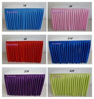 Wholesale Fashion colorful ice silk table skirt table cloth wedding table skirt hotel table decoration pink yellow green black blue