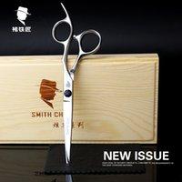 ba screws - Factory direct sales Chu blacksmith SmithChu hairdressing salon hand screw Blue Diamond Black matte scissors cut straight flat trimming ba