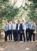 Wholesale Groom Wear Men High Quality Handmade Tuxedos for Wedding Dark Blue Two Pieces Custom Made Groomsmen Suits Jacket Pants