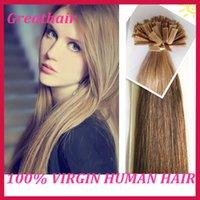 Cheap Cheap Hair 100g 1g strand 7A Peruvian Remy Hair Flat Tip Hair Extensions #1b Straight hair Peruvian Virgin Human Hair Free Shipping!!
