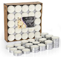 soy wax - 50pcs set Scented Candle Tealight Candles Vanilla Rose Jasmine French Lavender Blue Agappanthus
