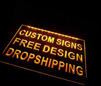 Wholesale design your own Custom ADV LED Neon Light Sign Bar open Dropshipping decor shop crafts led