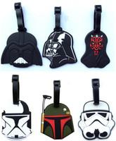 Wholesale 12 Designs Luggage Tags Star Wars Darth vader Travel Silicone Checked Box Tag Suitcase Baggage Bag ID Tag Holder Handbag Tag B258