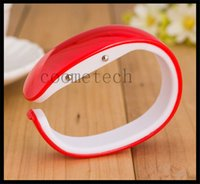bangle watch for women - LED plastic candy bracelet watches easy to wear bangle wristwatches bracelet watch with digital disply touch screen for man women