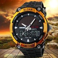 Wholesale Solar Power LED Digital Quartz Watch Men Sports Watches SKMEI ATM Waterproof Outdoor Dress Solar Watches Military Watch