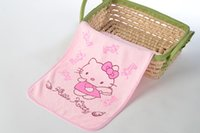 Wholesale 2pcs High quality Soft Baby Newborn Children Bath Towels hellokitty kids face towel Washcloth for Bathing Feeding