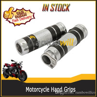 Cheap Motorcycle Hand Grips(Left & Right) for Honda Suzuki Kawasaki Yamaha with Dual Cable Throttle Control
