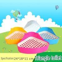Wholesale 11 Global Shopping Festival NEW pet rabbit toilet Plastic multicolor rabbit pet supplies Easy to clean