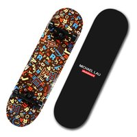 Wholesale God leopard official flagship store Michaellau four adult professional skateboarding skateboard double Alice skateboard Highway skateboard l