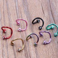 Wholesale New arrival nose hoop ring N19 color plated mix colors body piercing jewelry nose pin