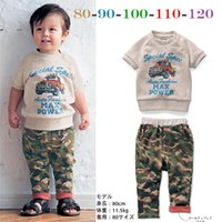 Cheap Boys Clothes Two-Piece Camouflage SET Best kids clothing set