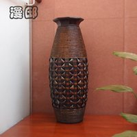 Wholesale 2014 Fashion large floor vase bamboo vase vintage flower personalized cylinder home decoration accessories
