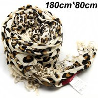 best scarf material - cm cm brand print big size best quality viscose material long women fashion lepard scarf