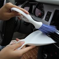 Wholesale Practical Car Accessory Plastic Cleaning Mini Tool Brush Broom Dustpan Hot Selling