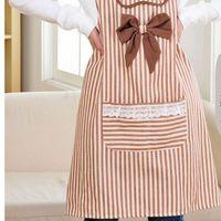 cotton apron - Stripe Cotton Apron Women Protection Pinafore LCCMD195
