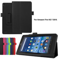 amazon fire cases - 1pc Two Folding PU Leather Case Stand Cover for Amazon Kindle Fire HD HD HD Tablet PC Case