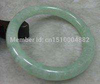 nature green jade bracelet - shitou NATURE BEAUTIFUL GREEN JADE JADEITE BRACELET BANGLE MM