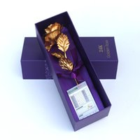 Wholesale Hot K Gold Plated Rose for Christmas Valentine s Birthday Gift for girls