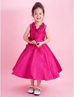 best yams - 2015 Best Selling Little Girl Zou Yam Flower Girls Dresses r Length Square Ball Gown Sleeveless fit Wedding Birthday Fathers day Dress