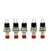 Cheap 5Pcs Red Momentary On Off Push Button Micro Switch New