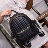 backpack - 2016 Fashion Classic Backpack High Quality PVC Rivets Handbags Schoolbag Travel Daily Bag Rain EXO Same Design Bags for women