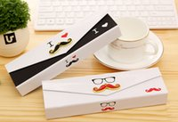 Wholesale Alloy beard pencil case Paper gift box Glasses pattern storage box Jewelry box