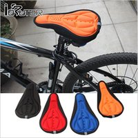 Wholesale 300 BBA4160 MEN color Cycling Bike Saddles D Comfortable Silicone Gel Seat Cover Cushion Soft Bicycle Pad Mountain Bike Parts Acessories