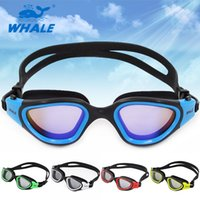 Wholesale Whale CF7200 Adjustable Unisex Adult Non Fogging Anti UV Swimming Goggles Glasses colors