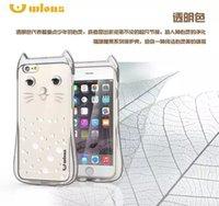 apple shaped boxes - 20PCS Cute Cat Shape Wlons TPU Cover Case For iPhone Plus s Plus Back Housing Case With Retail Box
