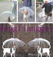 Wholesale 60pc Creative dog umbrella protective dog leash dog raincoat dog traction rope umbrella dog lead with a umbrella raincoat for dogs J127