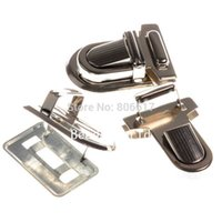 Wholesale Sets Silver Tone Handbag Bag Accessories Purse Snap Clasps Closure Lock x22mm x25mm x18mm x13mm W04393