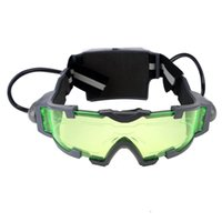 Wholesale 2015 Brand New JINGYI Night Vision Goggles Feet with Adjustable Flip out Lights Green Lens JYW