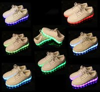 Wholesale USB Charging Colorful shoes of the light emitting luminous LED fluorescent shoes shoes for men and women casual shoes