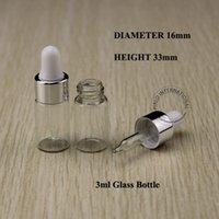 Wholesale 20pcs Promotion Essential Oil Bottles ml Clear Glass Dropper Jar Mini Silver Cap Empty Refillable Small Container Perfume Packaging