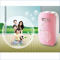 Wholesale 220V pink Home Air Purifier Release million negative ions Purifier Anion oxygen bar Removal of formaldehyde J14635