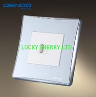 Cheap Free Shipping, DENOO Luxury Wall Switch Panel, Computer Socket, Dancing Series, Light switch,10A, 110~250V