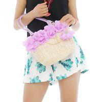 corn husk - 1pc Girl Women Corn Husk Flowers Beach Bags Designers Brand High Capacity Straw Woven Summer Tote Handbag ic641860